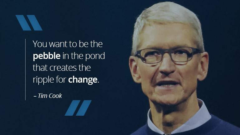 Tim Cook – An Apple A Day