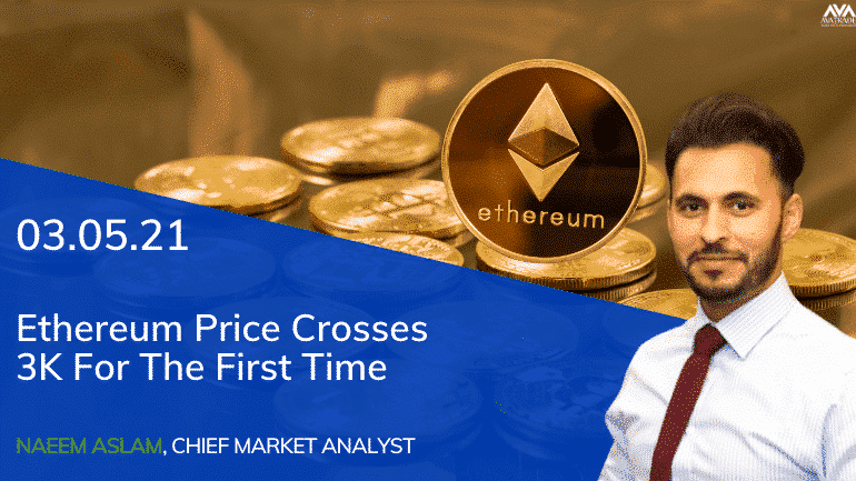 Ethereum Price Crosses 3K For The First Time